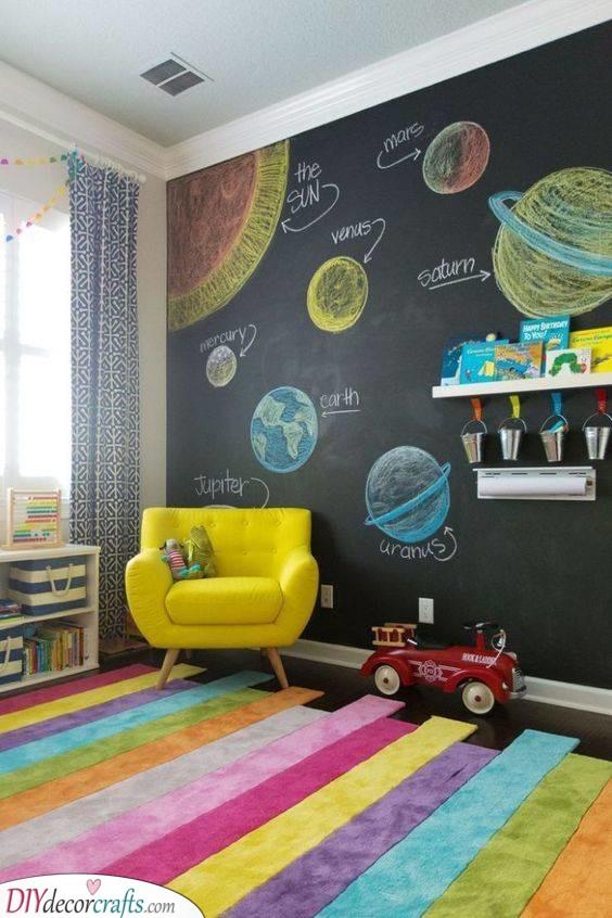A Huge Blackboard - Awesome Ideas for Kids