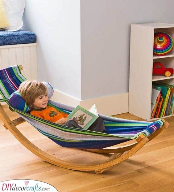 A Rocking Hammock - Great for Children