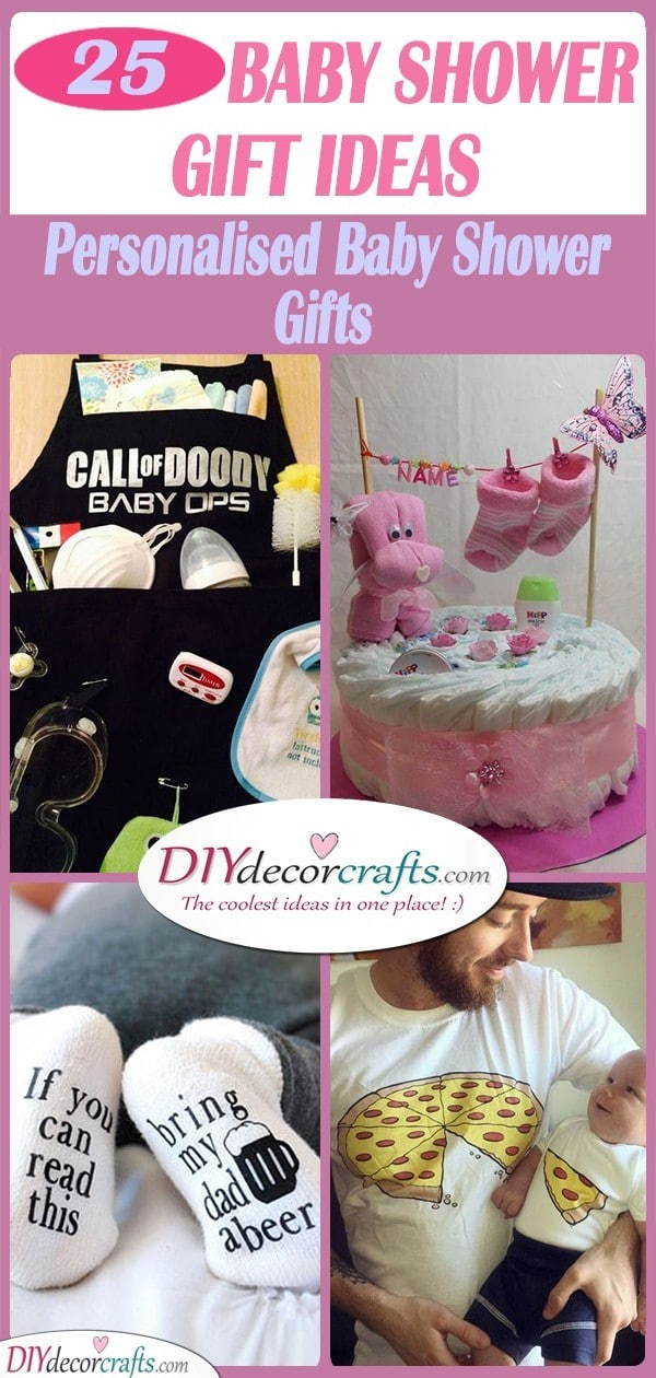 25 BABY SHOWER GIFT IDEAS - Personalised Baby Shower Gifts
