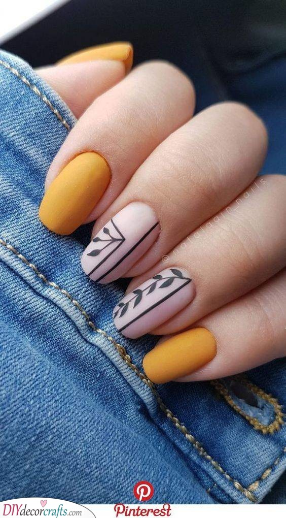 Quirky Matte Yellow - With a Touch of Nature