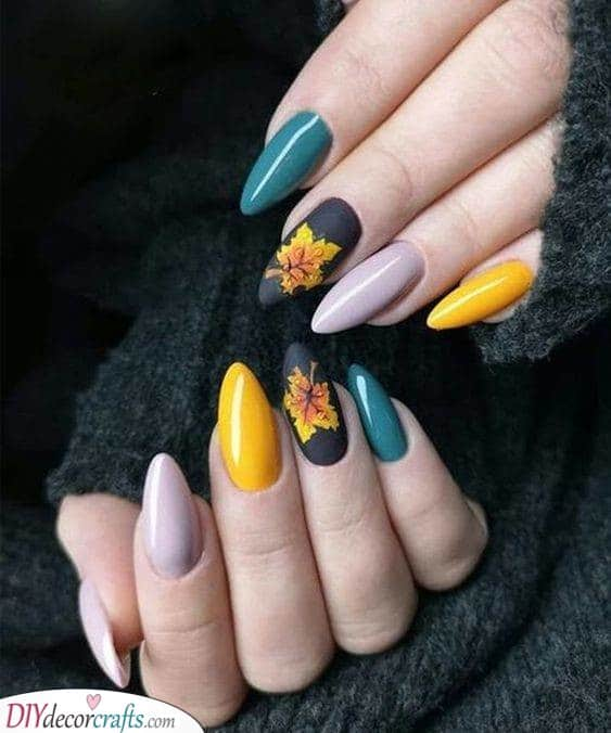 An Array of Colours - Autumn Nail Designs
