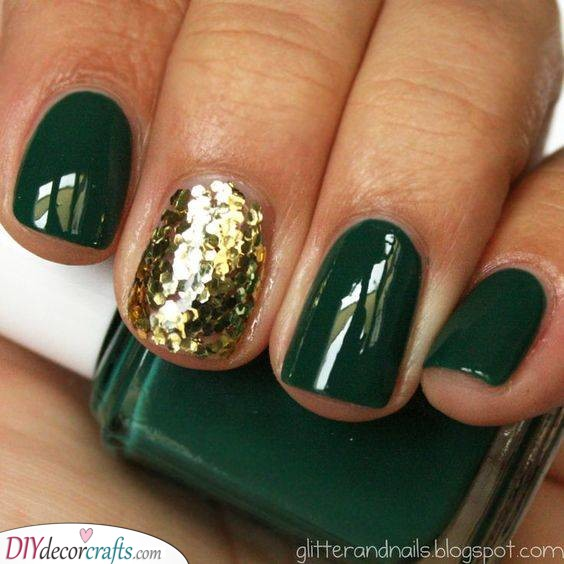 Add Some Glitter - Green and Gold