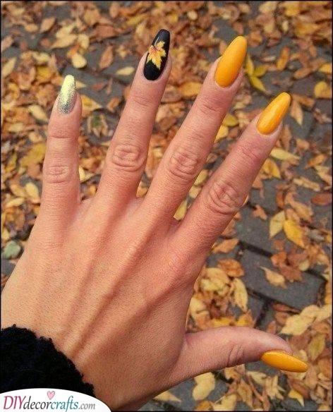 Yellow and Black - Modern Elegance