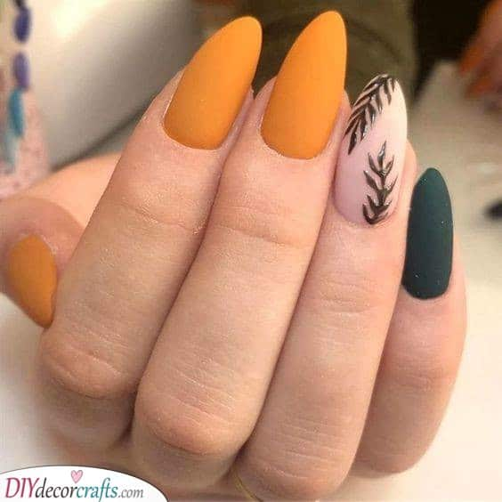 Ferns Forever - Beautiful Fall Nail Colours
