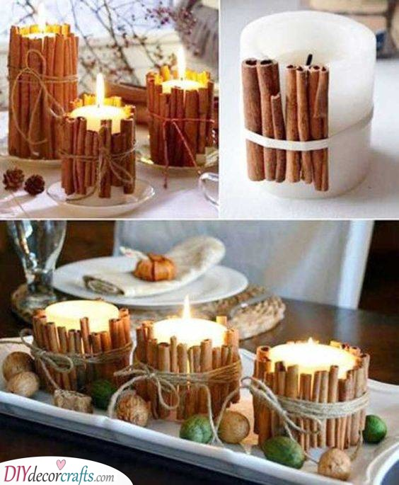 Sticks of Cinnamon - Candle Fall Tablescapes