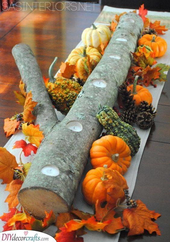 Beautiful Table Centrepiece - Fall Table Decor Ideas