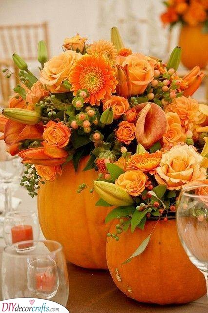 An Alternative to a Vase - Pumpkin Ideas