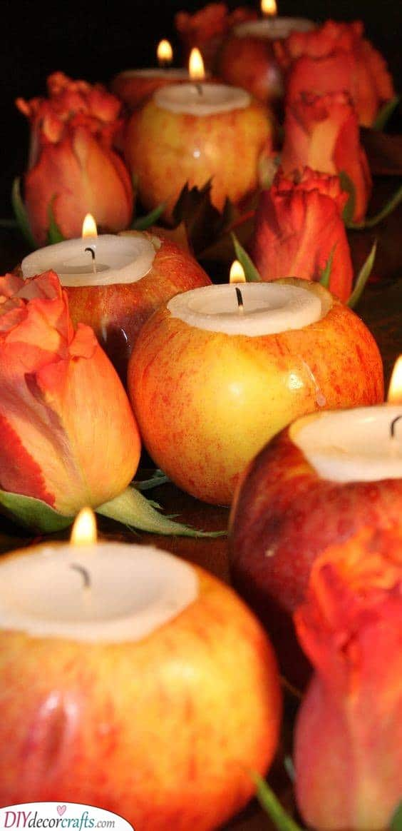 Apple Candles - Creating Your Own Decor