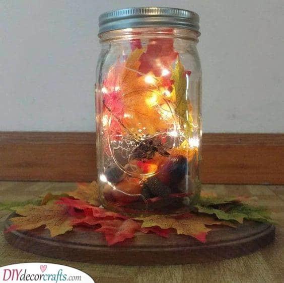 Mason Jar Crafts - Using Fairy Lights