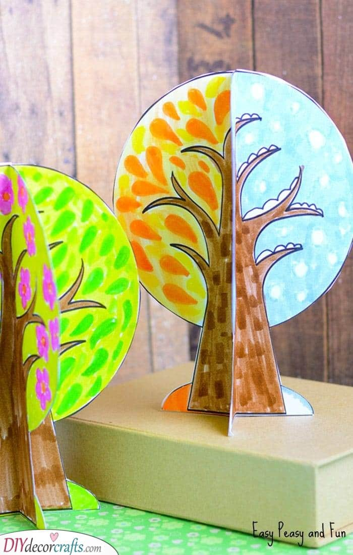 Four Seasons - Fall Crafts for Toddlers