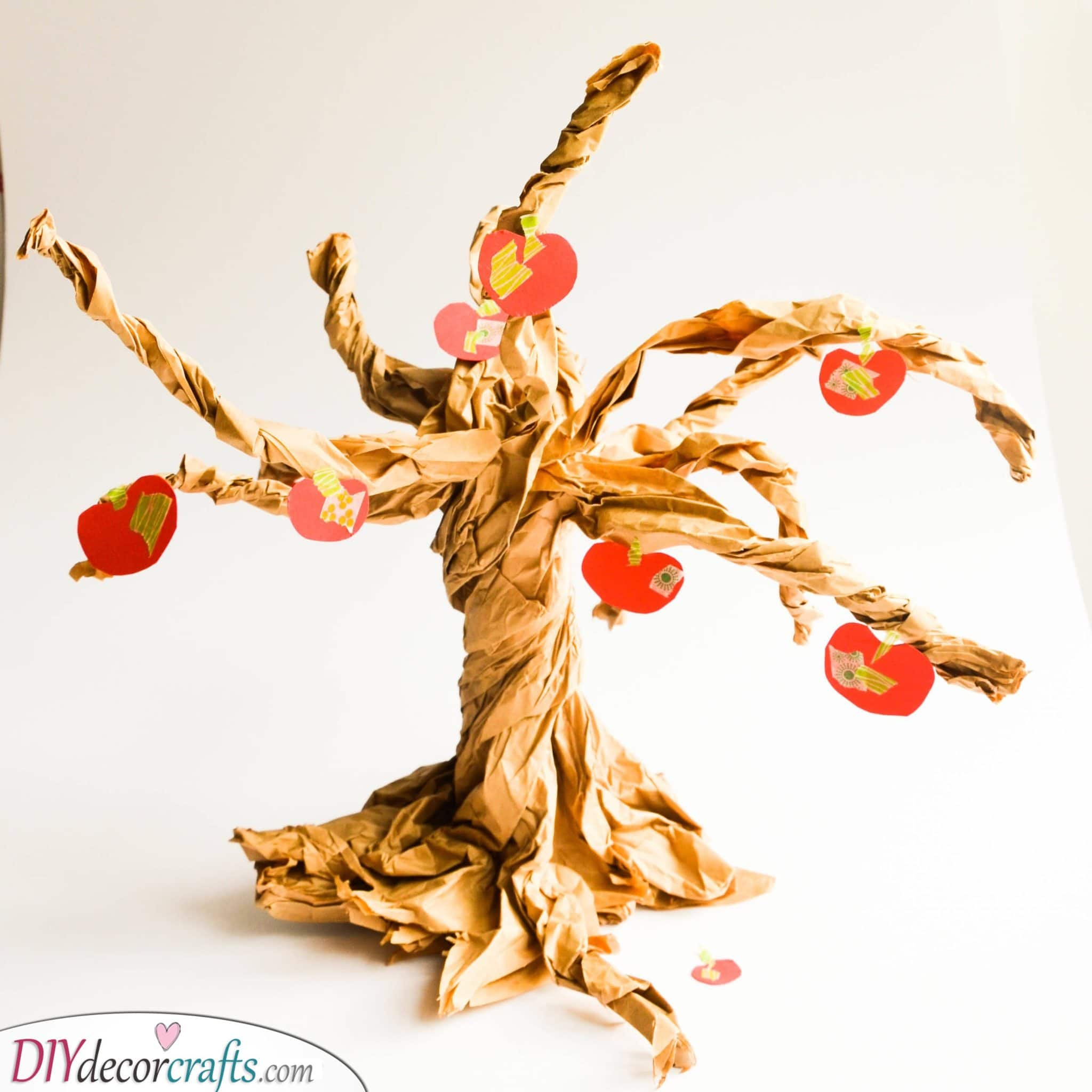 An Apple Tree - Paper Bag Crafts