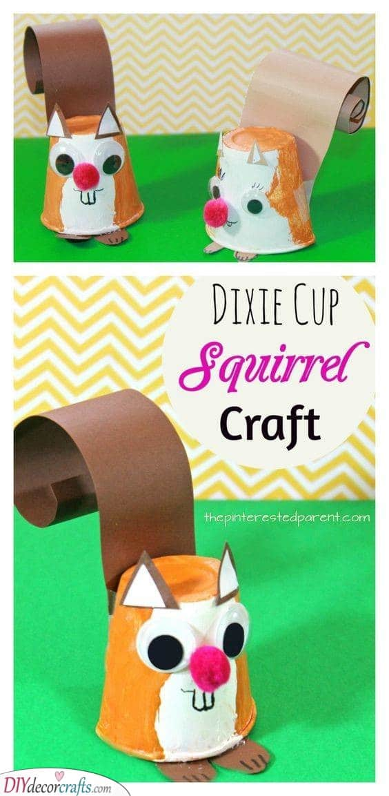 Reuse Dixie Cups - Make Some Squirrels