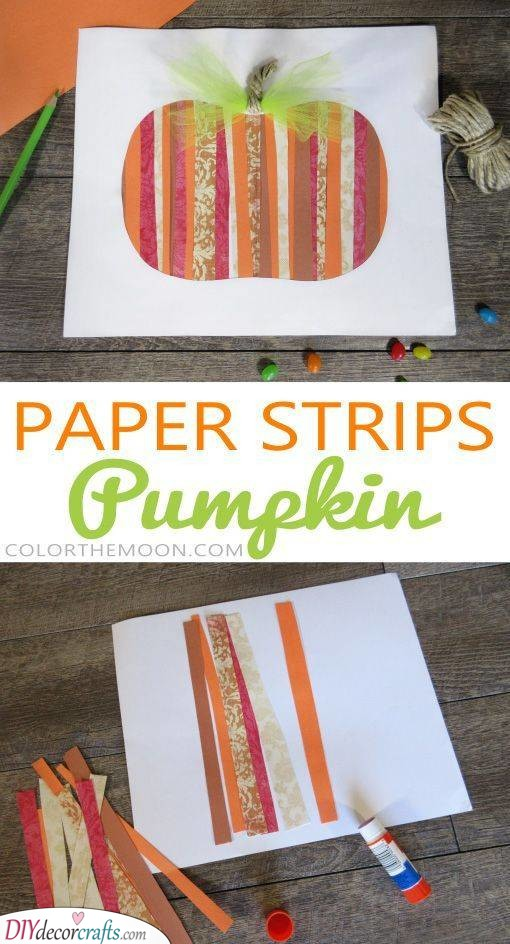 Paper Strips - Easy Fall Crafts for Kids