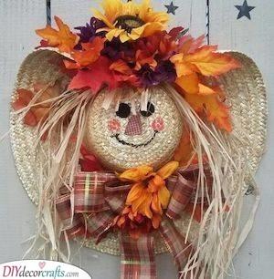 Scarecrow Idea - Fall Wreaths