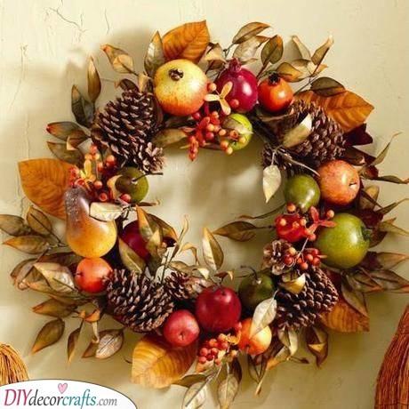 A Fruitful Wreath - Fall Wreath Ideas