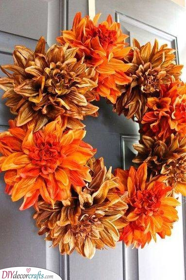Floral Wreath - Fall Wreaths for Front Door