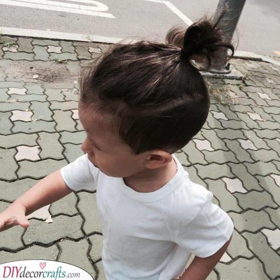 A Man Bun - Cute on a Toddler
