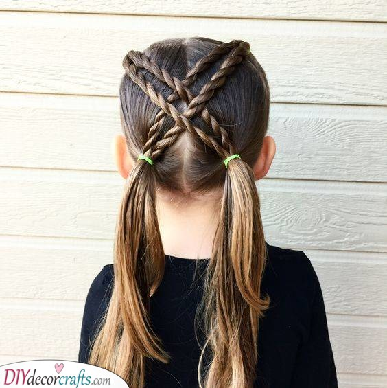 Crisscrossed Pigtail - Including a Few Braids