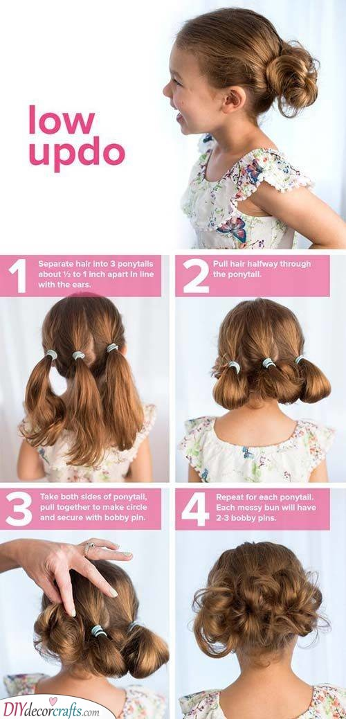 A Low Updo - Easy Little Girl Hairstyles