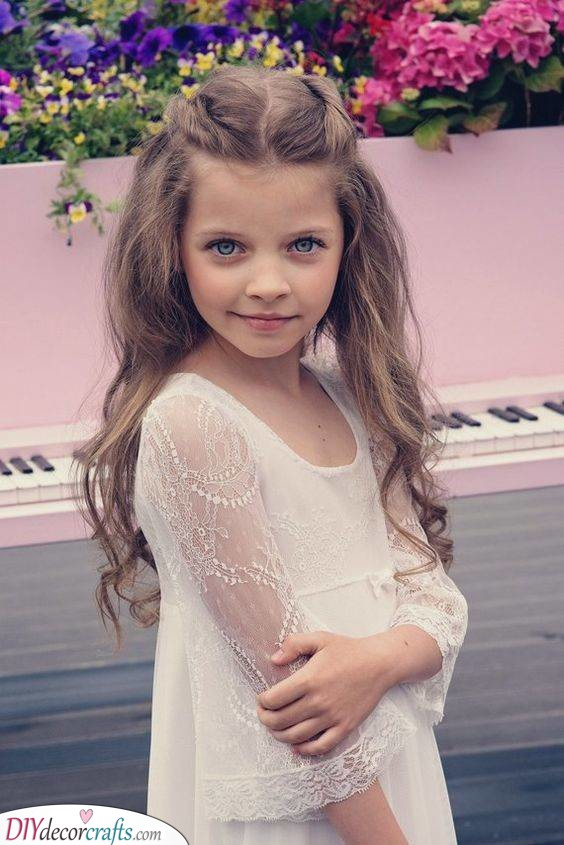 A Natural Look - Cute Hairstyles for Little Girls