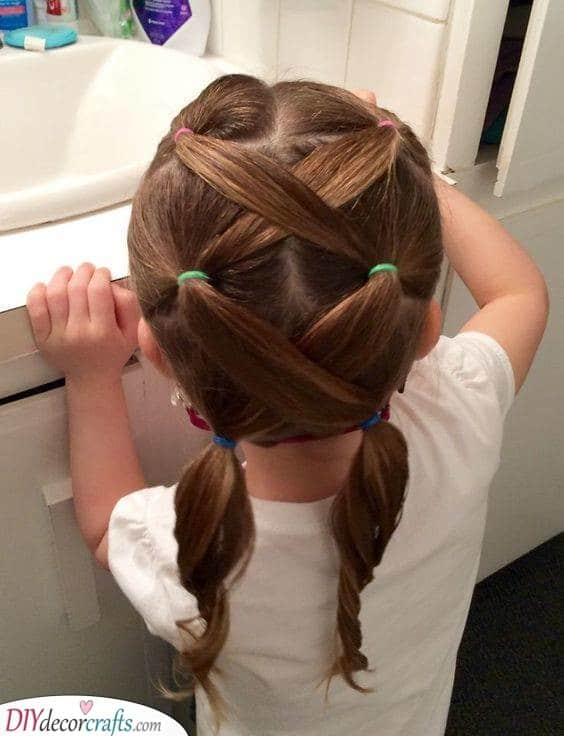 Cute and Crisscrossed - Little Girl Hairstyles