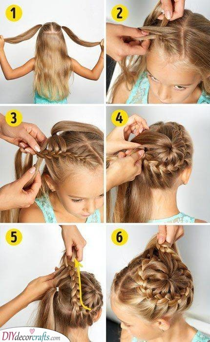 Two Braided Buns - An Angelic Appearance