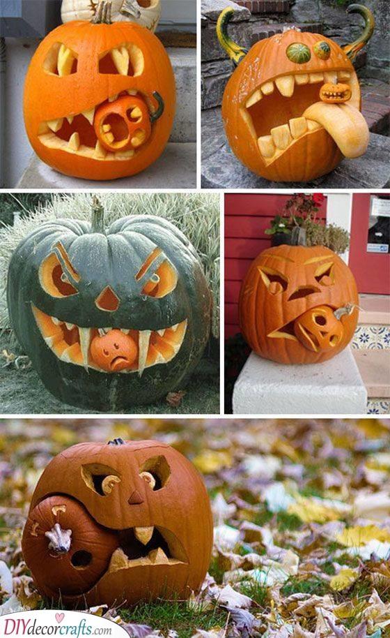 Gruesome Beasts - Easy Pumpkin Carving Ideas