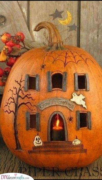 Ghoulish Greetings - A Haunted House