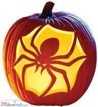 A Spooky Spider - Halloween Pumpkin Carving Ideas