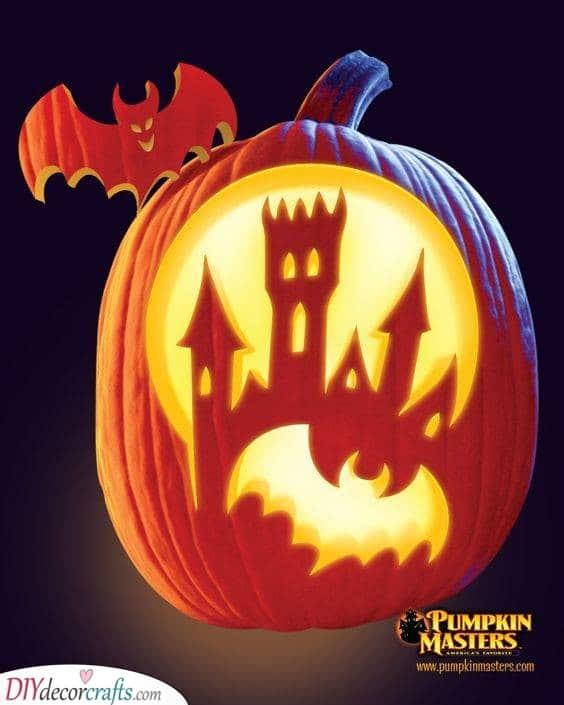 A Halloween Castle - Creative Pumpkin Decorating Ideas