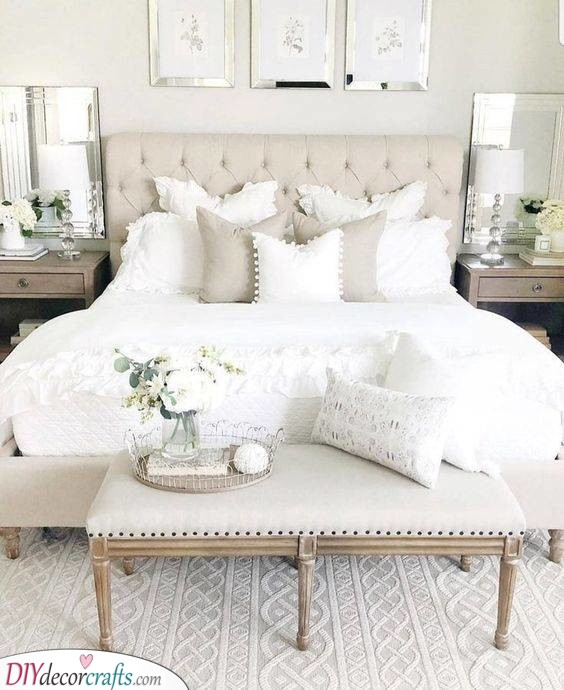 Beige and White - Small Master Bedroom Ideas