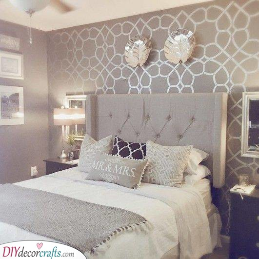 Shades of Silver - Very Small Master Bedroom Ideas