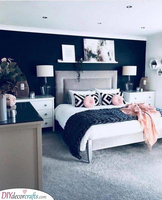 Add a Burst of Colour - Small Master Bedroom Design Ideas