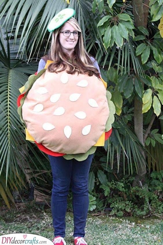 A Tasty Hamburger - The Best Halloween Costumes