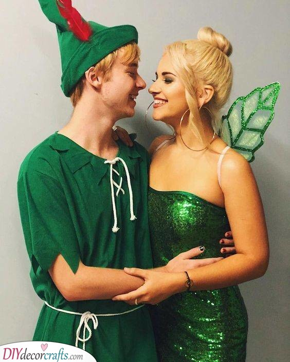 Peter Pan and Tinkerbell - Fly to Neverland