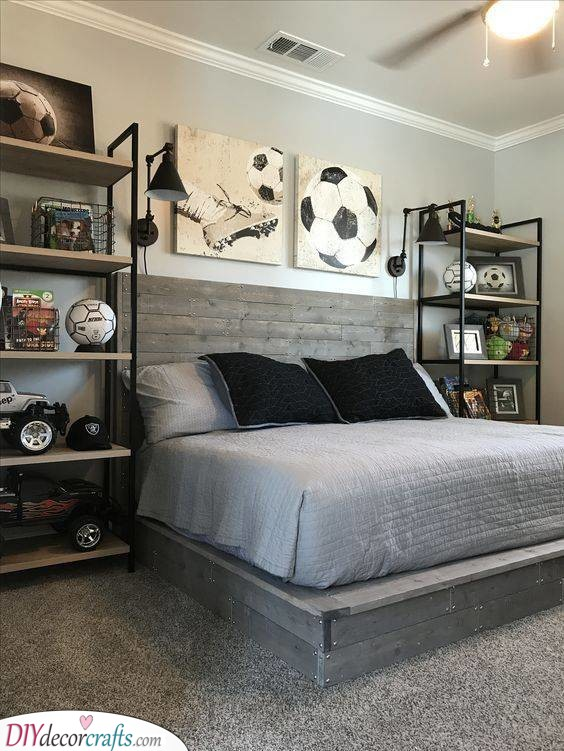 Crazy About Sports - Small Bedroom Ideas for Teenage Girls