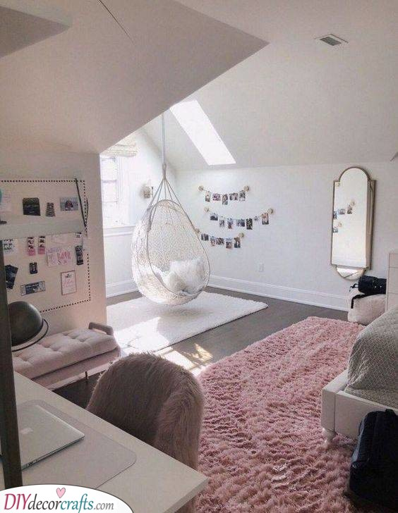 A Hanging Chair - Teenage Bedroom Ideas for Small Rooms