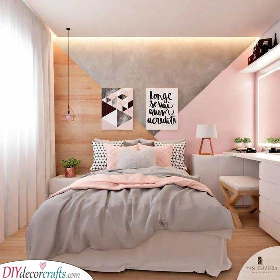 Geometric Patterns - Teenage Bedroom Ideas for Small Rooms