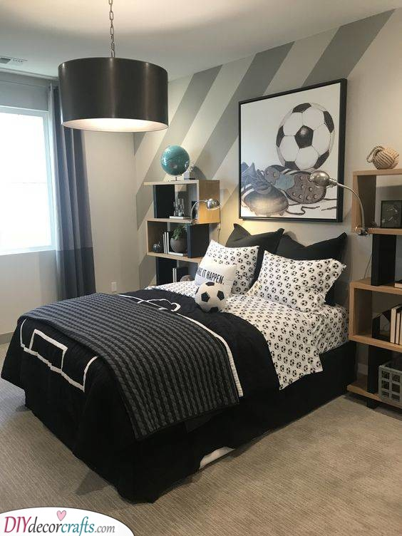 Monochrome Shades - A Stylish Room Design