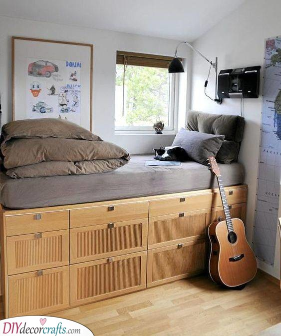 Bed on a Closet - Teenage Bedroom Ideas for Small Rooms