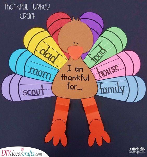 Sweet Thankful Turkey - Thanksgiving Craft Ideas