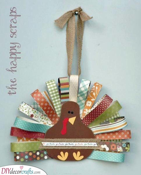 Use Fabric Scraps - Creating a Turkey