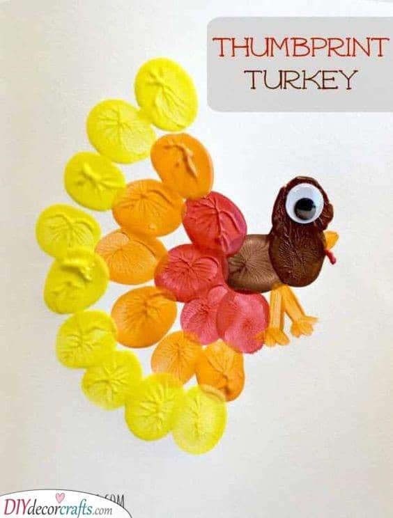 Thumbprint Turkey - Painting for Thanksgiving