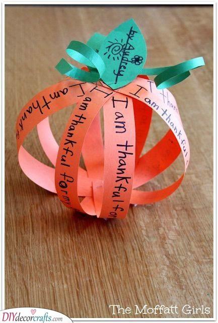 A Thankful Pumpkin - Paper Arts and Crafts