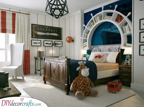 Airships and Boats - Unique Little Boy Room Ideas