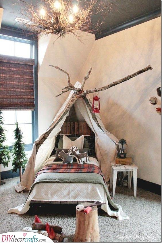 A Woodland Nest - Peaceful Little Boy Room Ideas