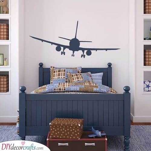 Checkered Airplanes - Toddler Boy Room Ideas