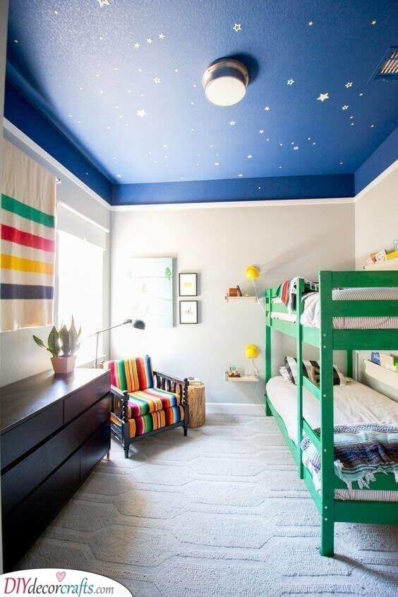 Painting a Ceiling - Toddler Boy Room Ideas