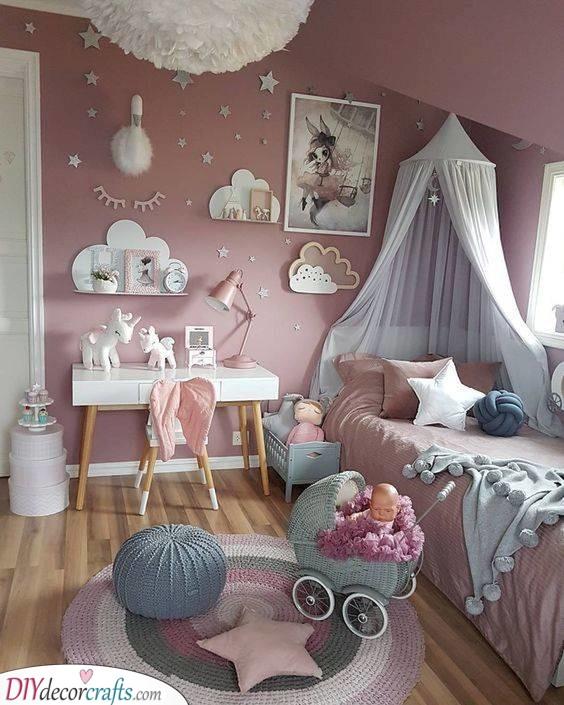 Toddler Girl Bedroom Ideas On A Budget Little Girl Bedroom Decor