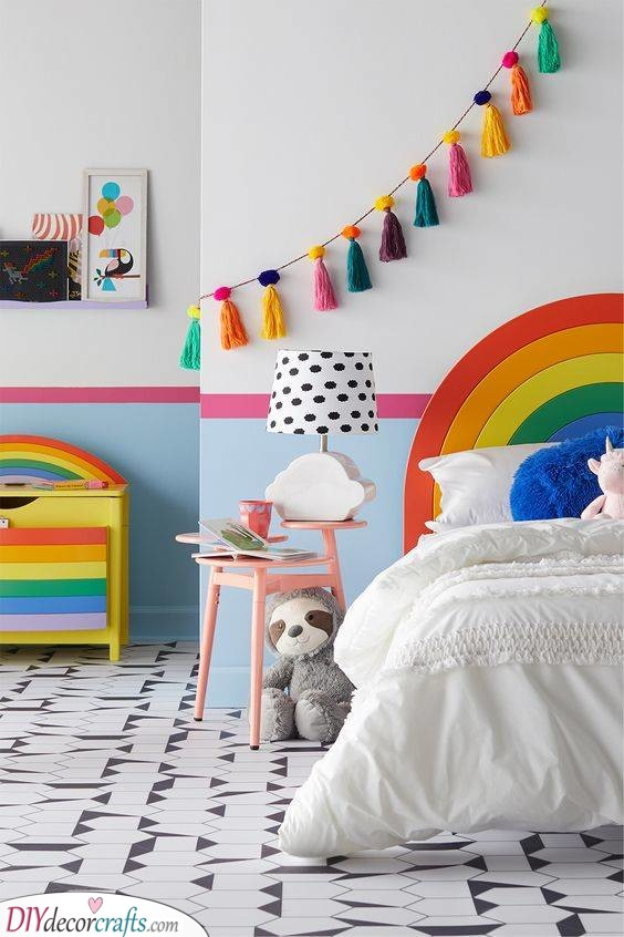 Rainbow Furniture - Toddler Girl Bedroom Ideas on a Budget